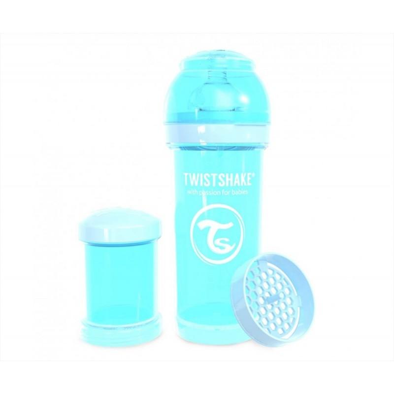 Biberón Anticólico Twistshake Pastel Azul 330 ml