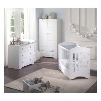 Habitación Completa Sweet Bear: Cuna con cajón, Bañera, Armario, Pack Textil y Sillón Micuna