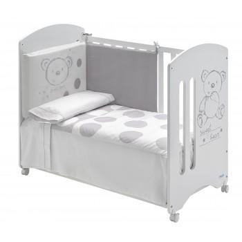 Habitación Completa Sweet Bear: Cuna con cajón, Bañera, Armario, Pack Textil y Sillón