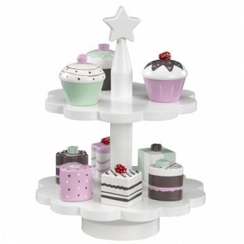 Conjunto 9 Pasteles Madera Star Mint Kids Concept