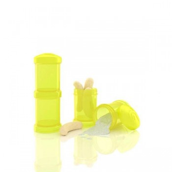 Dosificador Twistshake 2 x 100 ml Amarillo