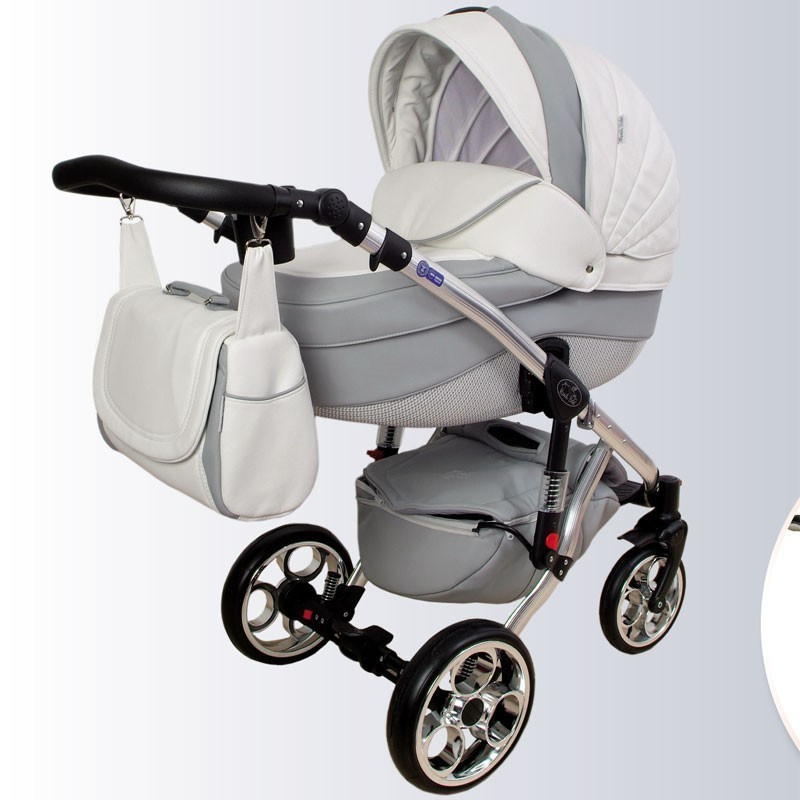 Dupla Nataly Polipele Branco e Cinza Mundi Bebê