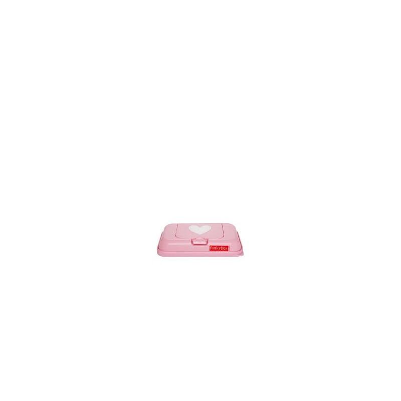dise/ño de coraz/ón color rosa Funkybox TO GO Toallitas h/úmedas