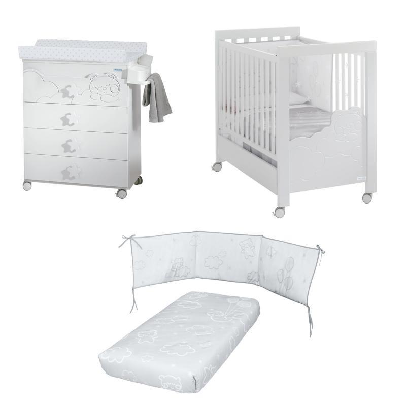 Habitación Dolce Luce: Cuna, Bañera / Cambiador y Pack Textil REGALO COLCHON