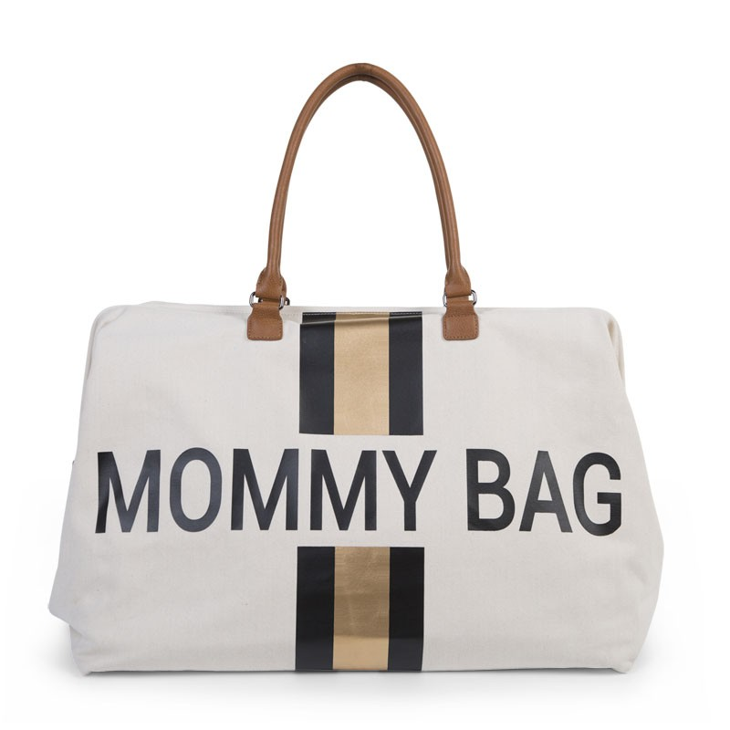 Mommy Bag Canvas Blanco Oro