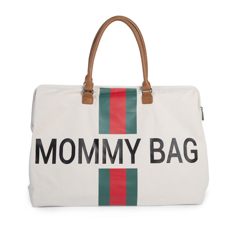 Mommy Bag Canvas Blanco