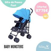 La silla de paseo Fast de Baby Monsters es el nuevo modelo de silla ligera, ¡completa y súper ágil! Está disponible en azul y rojo. Conoce aquí todas sus características y ventajas 👉 https://bit.ly/31liHlx #LaNanitaFamily #BabyMonsters #MamaRoo #TiendaOnline #TiendaBebés #OnlineShop