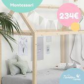 Dale a tu peque la posibilidad de tener su propia casa dentro de su habitación y apúntate a la tendencia del método Montessori 👏 Este pack Montessori (cama casa + funda nórdica) no sirve únicamente para dormir, sino también para inventar miles de juegos. Y ahora, además, está de oferta! #LaNanitaFamily #Baby #Montessori #TiendaOnline #TiendaBebés #OnlineShop