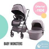 ¡¡Descuentos y promociones en Baby Monsters!! 👏😊 El nuevo Dúo de Silla y Capazo Marla de Baby Monsters es perfecto para el día a día 👌: compacto, ultraligero, con un diseño moderno, fácil de plegar y amplio para que los más peques viajen más cómodos. Y además, ¡ahora está en oferta!  #Quincenadelbebé #LaNanitaFamily #Baby #TiendaOnline #TiendaBebés #OnlineShop #Marla #BabyMonsters #Dúo #Baby