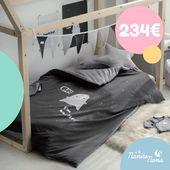 Pack Especial compuesto por la Cama Casa Montessori en acabado natural y la funda nórdica Boo gris de Bonjourbébé 😍  Ahora de REGALO el cojín rectangular gris y la guirnalda a juego!! Compruébalo tú misma 👉 https://bit.ly/2Ku6O6l  #LaNanitaFamily #Baby #TiendaOnline #TiendaBebés #OnlineShop