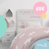 Precioso cabecero infantil Princesse en tono rosa pastel sobre madera 😍 Ideal  para dormitorios con decoración nórdica. Más info en https://bit.ly/2KzWJ7J #LaNanitaFamily #Baby #TiendaOnline #TiendaBebés #OnlineShop